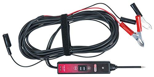KS Tools 150.1670 Funktionsprüflampe 6-24V DC mit 5 Meter Kabel