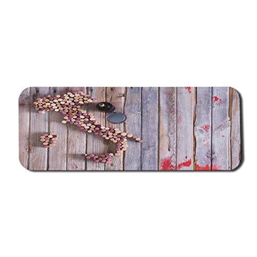 Winery Computer Mouse Pad, Karte von Italien Sardinien und Sizilien Old Corks auf alten rustikalen Holztisch, Rechteck rutschfeste Gummi Mousepad große lila rot Sand Sand braun