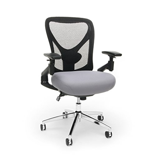 OFM Core Collection Stratus Series 24-Hour Big & Tall Mesh Back Office Chair, in Gray