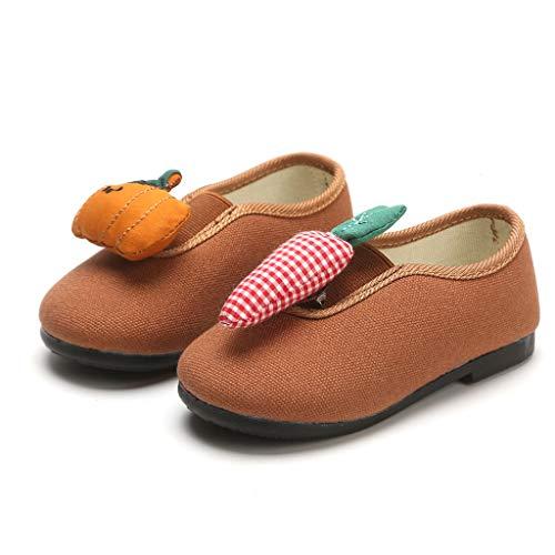 Moonuy Toddler Baby Chaussures Infant Bébés Garçons Filles Mode Fruit Design Single Shoes Enfants Baby Toe Round Casual Chaussures Plates Enfants Mocassins Chaussures