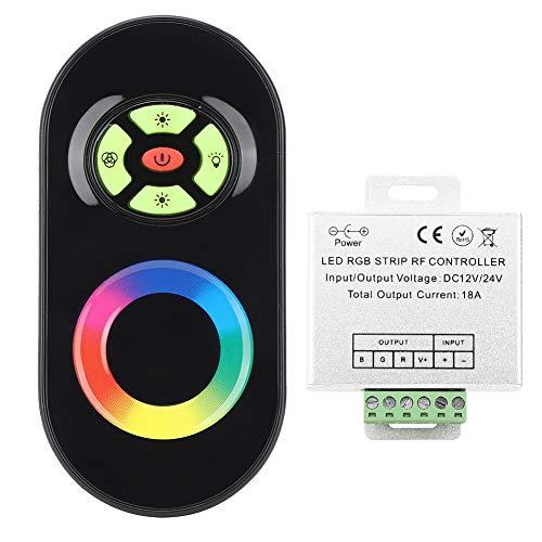 Control Remoto de RF RGB de 5 Teclas, atenuador de luz de Panel táctil Medio de radiofrecuencia inalámbrica