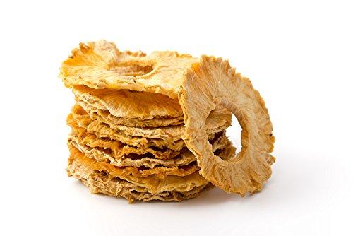 Piña Seca Deshidratada | 1 Kg de Anillos de Piña de Origen 100% Natural | Trozos Sin Azúcar Añadida ni Adicionada | Rodajas Desecadas | Sin Gluten | Vegana y Vegetariana | Dorimed
