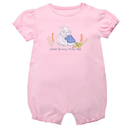 Bambino Pagliaccetto - Neonata Cotone Pigiama Manica Corta Tuta Bambina Tutina Attrezzatura Body Bimbo, 3-6 Mesi