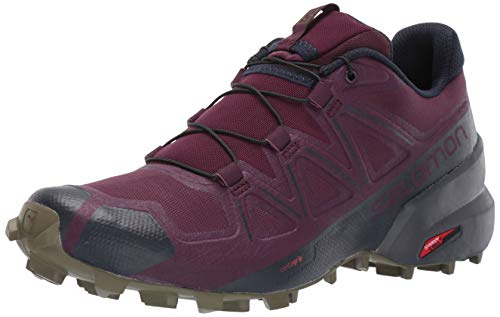 SALOMON Women's Speedcross 5 W Hiking Shoe, Potent Purple/Ebony/Burnt Olive, 7.5