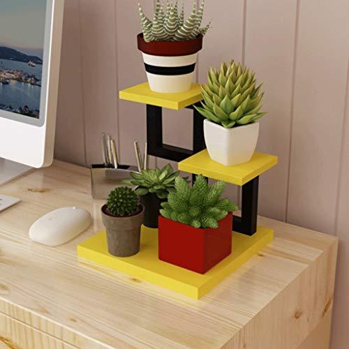 LICCC Autoportante Puesto de Flores Dormitorio de la Sala de Estar Mini Soporte de Flores Mesa Estrecha de Hierro Forjado Estante de la Flor Estante Estante (Color : D)