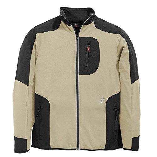 FHB Jersey-Fleece, Ralf, Größe 3XL, beige / schwarz, 78461-1320-3XL