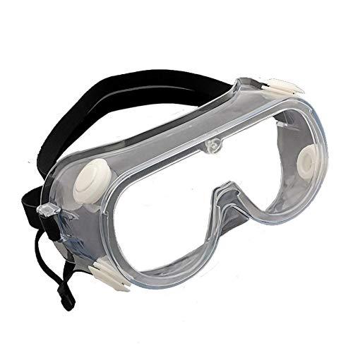 WAIDLY Gafas Protectoras de Seguridad Lentes Transparentes de diseño de Gran Angular Gafas Protectoras contra Salpicaduras médicas antiniebla para construcción, Laboratorio, Productos químicos