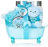 BRUBAKER 7-teiliges Baby Geschenkset Junge - Geschenk für Neugeborene Babyparty Junge - Babypflege...