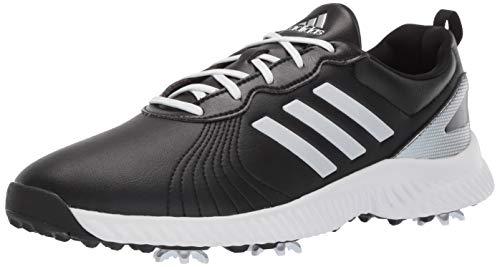 adidas Women's Response Bounce Golf Shoe, core black/ftwr white/silver metallic, 8.5 M US