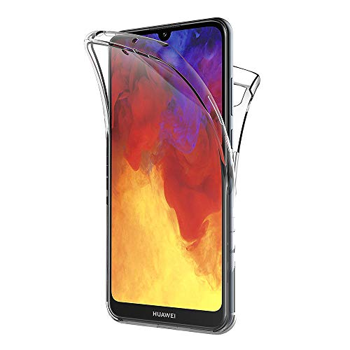AICEK Hülle Compatible Huawei Y6 2019 360°Full Body Transparent Silikon Schutzhülle für Huawei Y6 2019 Hülle Durchsichtige TPU Bumper Y6 2019 Handyhülle (6,09 Zoll)