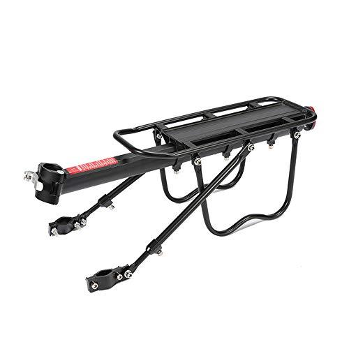 YUNYODA Porte-Bagages arrière de vélo - Capacité de 50 kg Porte-Bagages de vélo réglable - Porte-Bagages de vélo Super Strong à 2 Jambes Solides