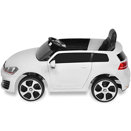 RC Auto kaufen Kinderauto Bild 5: SENLUOWX Kinderauto Elektroauto VW Golf GTI 7 Weiß 12 V Kinderfahrzeug Kinderauto mit Fernbedienung*