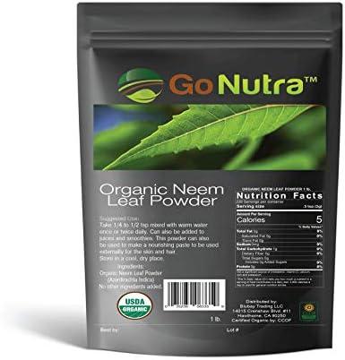 Neem Powder Organic 1 lb India Neem Neem Powder Neem Powder for Hair Face Skin Teeth Azadirachta product image