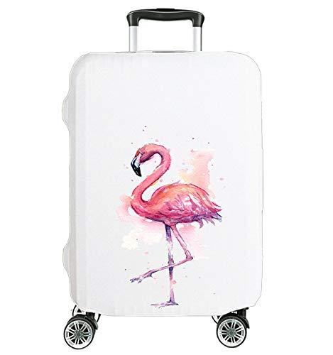Elegante Coperture per valigie Cover Proteggi Valigia Suitcase Copri Valigia Anti-Polvere bianco S SMALL 18'-22' Fenicottero [083]