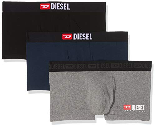 Diesel Herren UMBX-DAMIENTHREEPACK Boxershorts, Mehrfarbig (Grey/Blue/Black E4125), Medium (3er Pack)