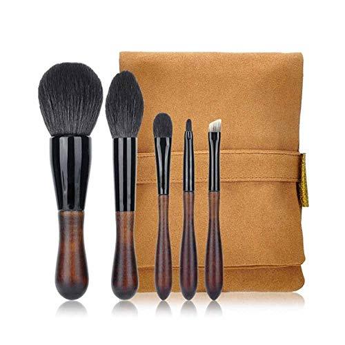 Hnd Pinceau de maquillage, 5 petites en forme de goutte de maquillage de brosse, un ensemble complet d'animaux Brosse à cheveux tête, doux et confortable, Convient for les outils de maquillage profess