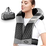 ATMOKO Neck and Back Massager with Heat Vibration and Carry Bag 4D Kneading Deep Tissue Handfree Shoulder Massager for Men Women Family