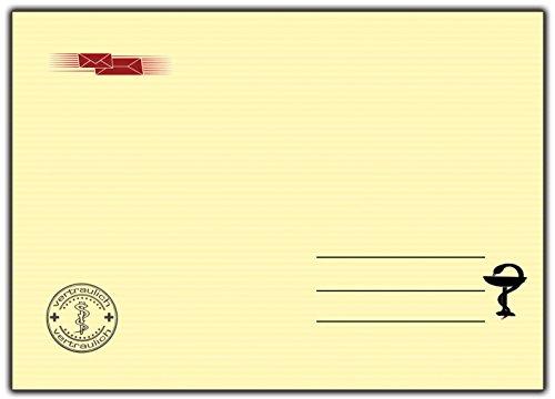 Briefumschlag 30 Stück DIN-C 5 passend für DIN A5 Motiv: Krankenschein Arzt 30 Stück Ideal für Einladungskarten Krankschreibung