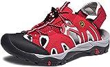 ATIKA Women Athletic Outdoor Sandal, Closed Toe Lightweight Walking Water Shoes, Summer Sport Hiking Sandals, Rocky(w221) - Wine, 8