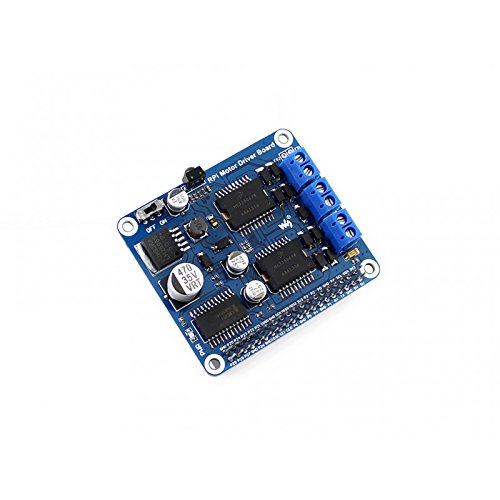 Waveshare Raspberry Pi Motor Driver Board Expansion Module DC Motor Stepper Motor Driver for DIY Mobile Robot Remote Control Based on Raspberry Pi A+/B+/2 Model B/3 B