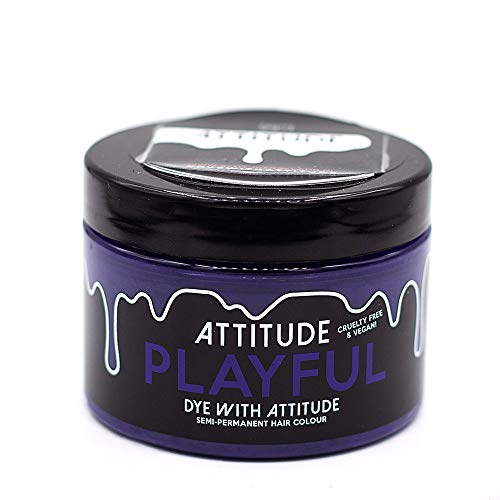 Attitude Haarfärbemittel - Semipermanenter Haarfarbstoff - mit Conditioner und Vegan - Farbe Playful Lila