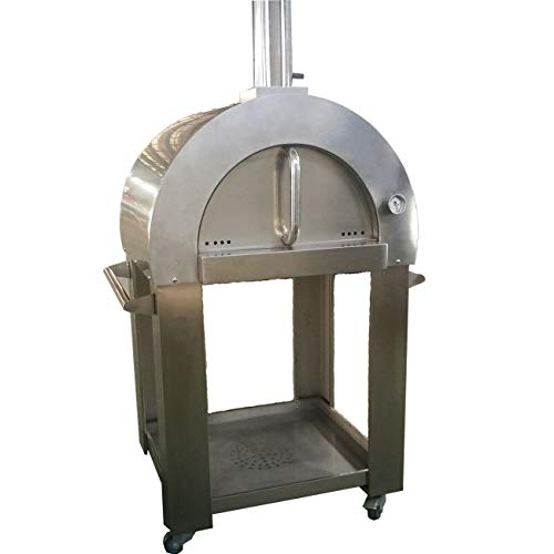 SUPER7 Super Grills Premium Outdoor Large Pizza Oven Wood Fired Stainless Steel New