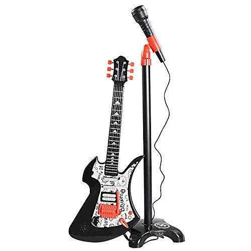 Alfun Guitarra y Micrófono Infantil, Guitarra Electrica Ni�
