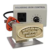 Custom Branding Iron with Personalized Text and Oval Border Includes Electric Heating Tool and Temp Control Unit - Standard Size