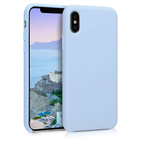 kwmobile Hülle kompatibel mit Apple iPhone X - Hülle Handyhülle gummiert - Handy Case in Hellblau matt