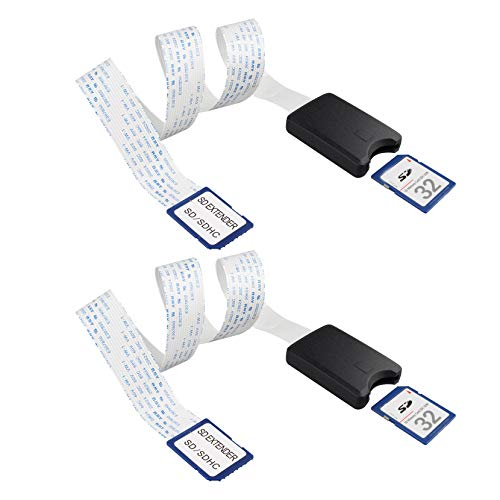 Jopto Flexibles Verlängerungskabel für SD-Karte, 48 cm, kompatibel mit Raspberry Pi, GPS, DVD, LED, Wildkamera, SDHC, SDXC, 2 Stück
