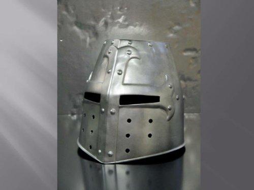 Médiéval Knight's Casque-Argent-Taille enfant