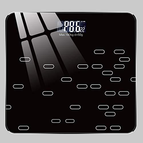 MHBY Báscula de Peso, báscula electrónica y de batería Seca del Cuerpo Humano báscula de Peso doméstica báscula de baño de Salud precisa para Adultos y niños báscula electrónica