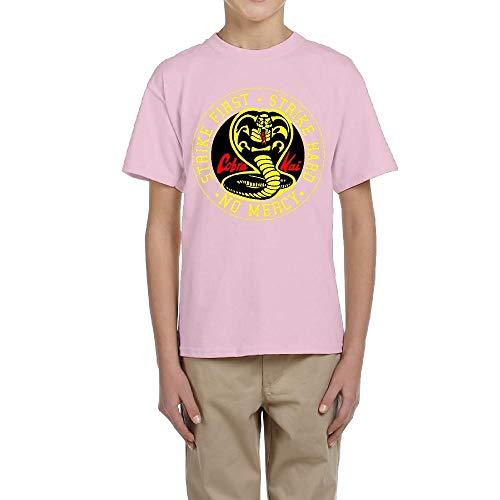 Tengyuntong Camisetas y Tops Hombre Polos y Camisas, Cobra Kai Karate Dojo Camiseta Personalizada para jóvenes Camiseta de Moda para niño