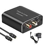 AMANKA Convertidor Digital a Analógico,DAC Audio Óptico Coaxial(RCA) Toslink SPDIF de Audio Estéreo R/L y Jack 3.5mm para PS3, PS4, Xbox, HDTV, DVD etc (Aluminio)