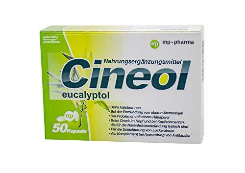 Cineol eucalyptol - 100% natürlich - Kapseln mit Eukalyptusöl - Bei Entzündungen der oberen Atemwege und Erkältungen - Nahrungsergänzungsmittel - 50 Stk.
