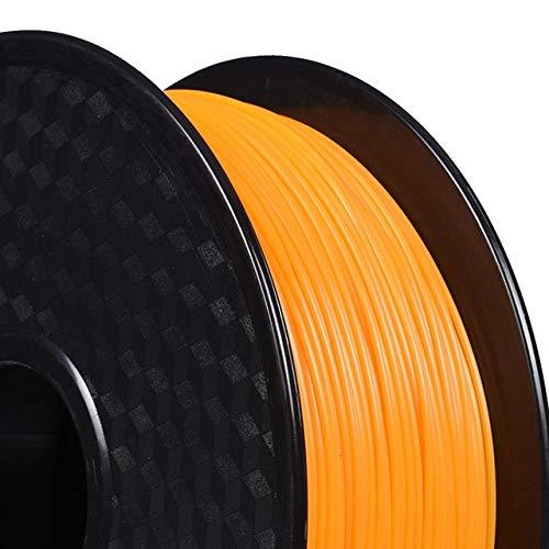 DZWLYX Stampante 3D filamento PLA 1,75 Millimetri 1KG plastica filamento Materiale RepRap Createbot/MakerBot for Parti della Stampante 3D / Penna 3D (Color : Orange)
