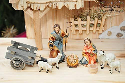 Geburt Jesu 3 - Christi Geburt - Figuren-Set für Weihnachtskrippe & Osterkrippe, mit Maria, Josef und Jesus,Krippe, Stall von Betlehem,Lk2,1-20- Passion Christi - für 9-10 cm Figuren, ideal als Kripp