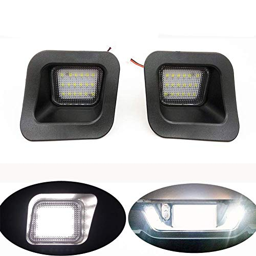 ORASK 2pcs Car Led License Plate Lights for Dodge RAM 1500 2500 3500 Pickup Truck Error Free 3W 18 SMD White Rear Number Plate Lamp Assembly Replacement