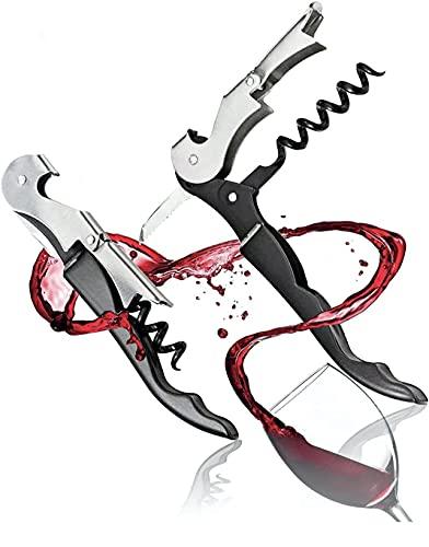Cavatappi Professionali Apribottiglie Vino, Cavatappi da Sommelier, Tagliacapsule, Cavatappi del Cameriere Apri Bottiglia Accessori del Vino e Regali