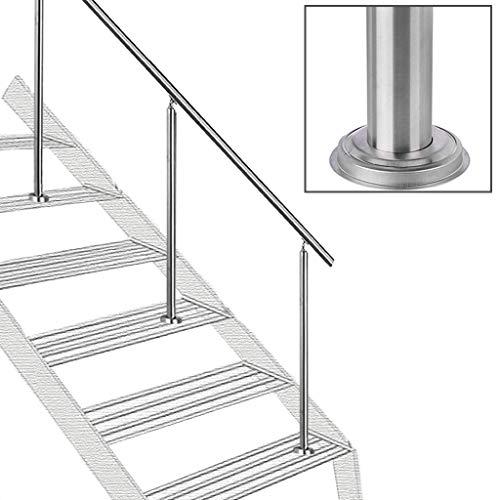 MYAOU Edelstahl-Geländer für Treppen - Komplettset - Sicherheitsstangen für ältere Innen- und Außentreppengeländer
