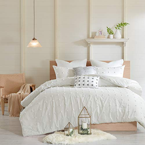 "Urban Habitat Brooklyn Comforter Set, Full/Queen(88""x92""), Ivory"