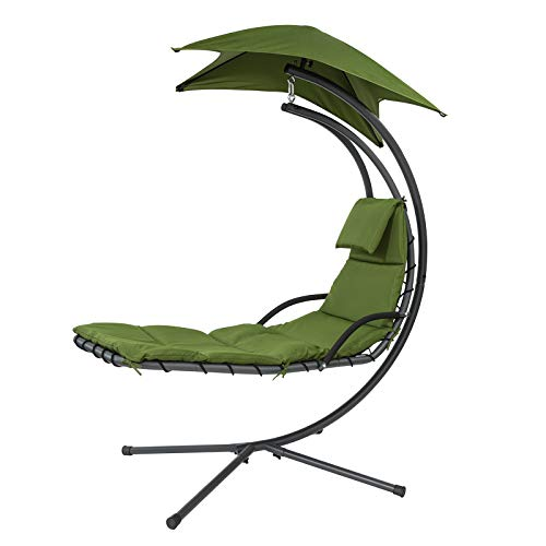 SoBuy OGS39-GR Tumbona Colgante con toldo sillón balancín jardín,ES (OGS39-GR)