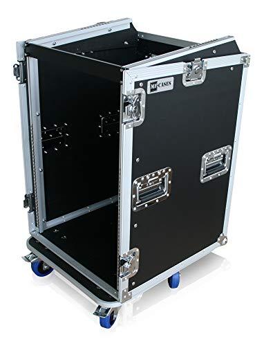"Winkelrack 16HE +10HE oben 19"" Rack Mixer Endstufe CD Player Case DJ L-Rack"