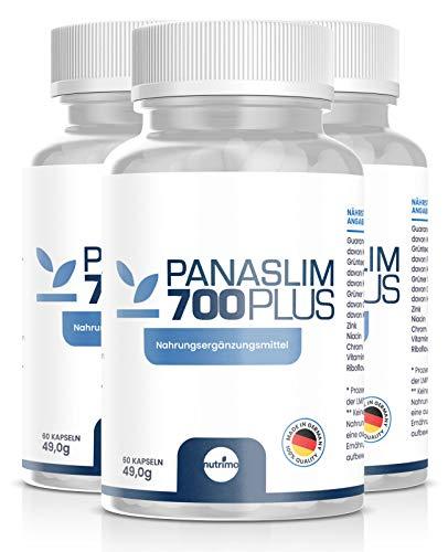 Panaslim - Das Original! | Starker STOFFWECHSELKOMPLEX | hochdosierter FATBURNER | 100% natürliche Inhaltsstoffe | Made in Germany | 180 Kapseln Sparpaket