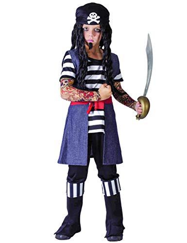 Costume pirata tatuato bambino 7/9 anni (122/134)