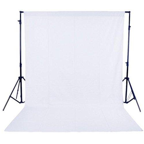 Andoer® 1,6 x 3 m / 5 x 10 FT Telón de Fondo Pantalla No Tejido para Estudio de Fotografía sin el soporte (Blanco Fondo de estudio 1.6m * 3m)