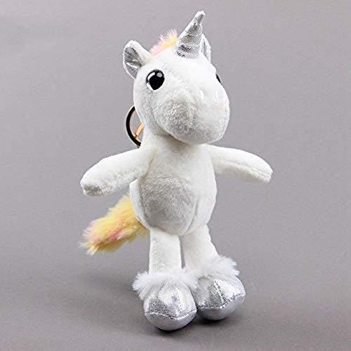JKLI Keychain Plush Toy 16cm Unicorn Plush Doll Stuffed Keychain Pendant,Colour:16cm wangwu (Color : 16cm)