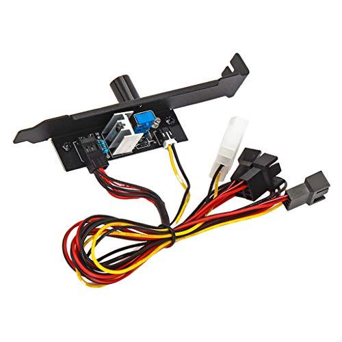 MagiDeal Enfriador Controlador de Ventilador de Refrigeración 3 Canales 3 Pines PC 12V Potencia PCI Soporte