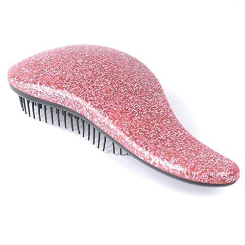 1 STÜCK Haarbürste Kamm Ei Runde Form Weiche Styling Werkzeuge Haarbürsten Entwirrung Kamm Salon Haarpflege Kamm Für Reise, Handheld Rosa