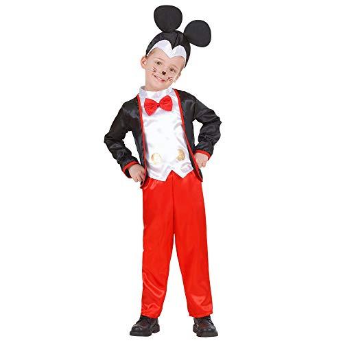 WIDMANN 49138 - Disfraz de Mickey Mouse para niños, multicolor, 98 cm